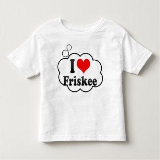 私はFriskeeを愛します トドラーTシャツ