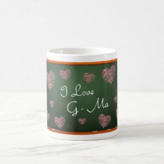 私はG-Maを愛します コーヒーマグカップ