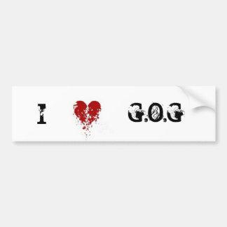 私はG.O.Gを愛します バンパーステッカー