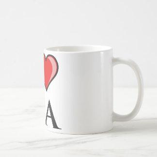私はGA -ジョージア--を愛します コーヒーマグカップ