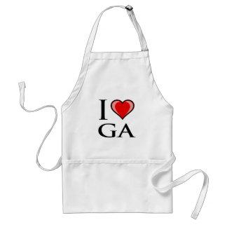 私はGA -ジョージア--を愛します スタンダードエプロン