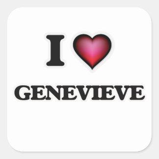 私はGenevieveを愛します スクエアシール