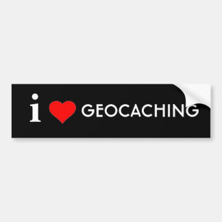 私はGeocachingを愛します バンパーステッカー