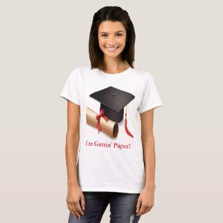 私はGettingの紙です Tシャツ