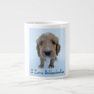 私はGoldendoodlesのマグを愛します ジャンボコーヒーマグカップ