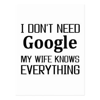 私はGoogleを必要としません ポストカード