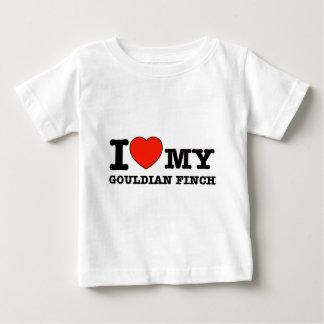 私はgouldianフィンチを愛します ベビーTシャツ