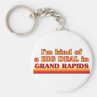 私はGrand Rapidsのちょっと大事です キーホルダー