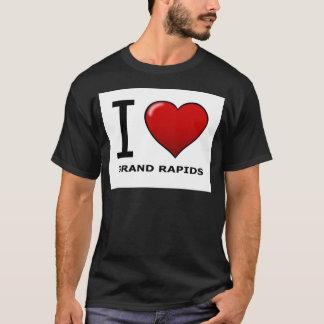 私はGRAND RAPIDS、MI -ミシガン州--を愛します Tシャツ