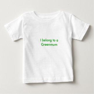 私はGreenmumに              属します ベビーTシャツ