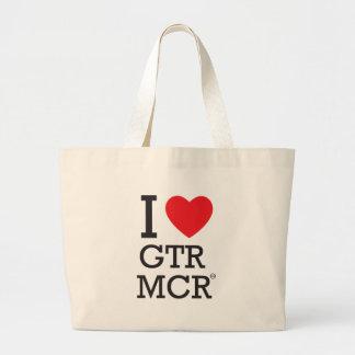 私はGTR MCRを愛します ラージトートバッグ