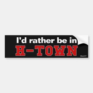 私はH町にむしろいます バンパーステッカー