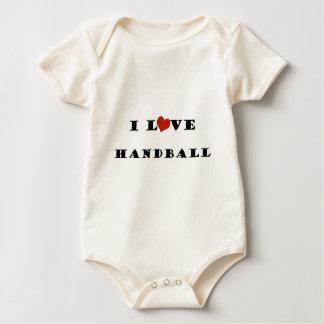 私はHandball.pngを愛します ベビーボディスーツ