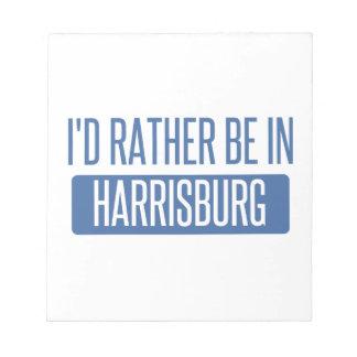 私はHarrisburgにむしろいます ノートパッド