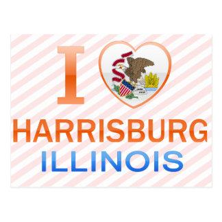 私はHarrisburg、ILを愛します ポストカード