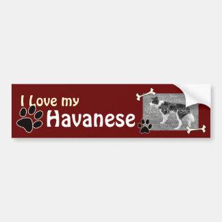 私はHavaneseの私のバンパーステッカーを愛します バンパーステッカー