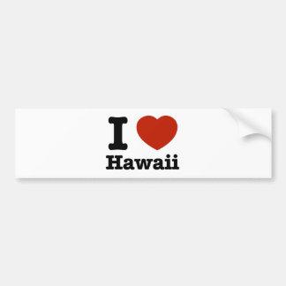 私はHawaiを愛します バンパーステッカー