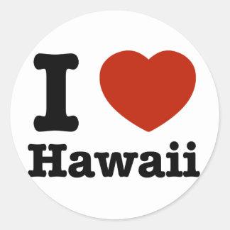 私はHawaiを愛します ラウンドシール