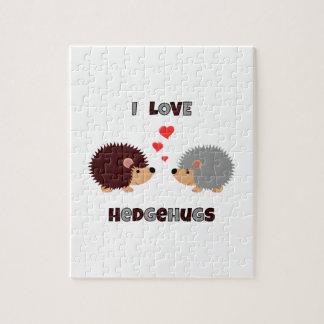 私はhedgehugsのハリネズミを愛します ジグソーパズル