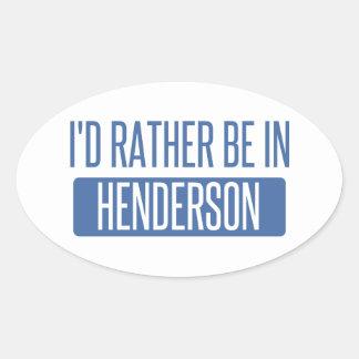 私はHendersonにむしろあります 楕円形シール