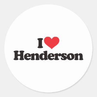 私はHendersonを愛します ラウンドシール