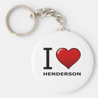 私はHENDERSON、NV -ネバダ--を愛します キーホルダー