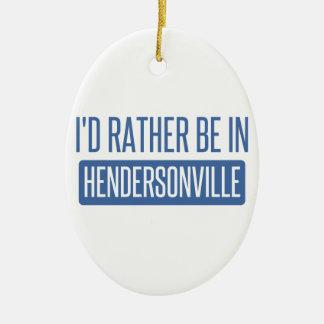 私はHendersonvilleにむしろいます セラミックオーナメント