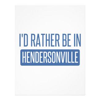 私はHendersonvilleにむしろいます レターヘッド