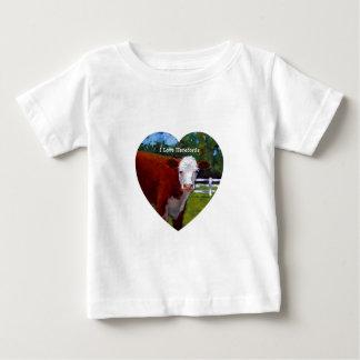 私はHEREFORDSを愛します ベビーTシャツ