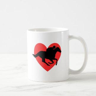 私はHorseracingを愛します コーヒーマグカップ