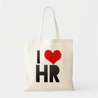 私はHRを愛します トートバッグ