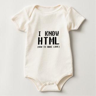 私はHTMLを知っています ベビーボディスーツ