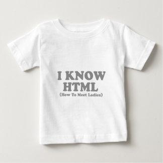 私はhtmlを知っています ベビーTシャツ