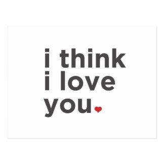 私はI愛を考えます ポストカード