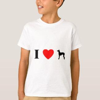 私はIbizan猟犬の子供のTシャツを愛します Tシャツ
