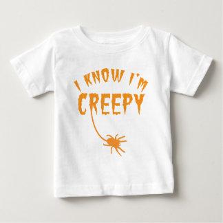 私はim気色悪いハロウィンのデザインを知っています ベビーTシャツ