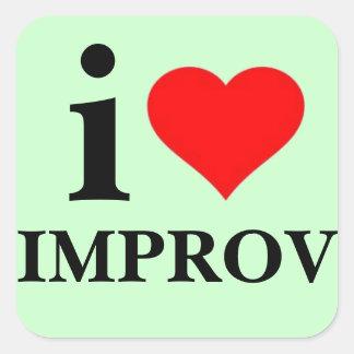 私はImprovを愛します スクエアシール