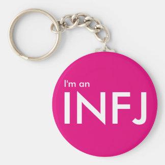 私はINFJ -性格特徴ピンクKeychainです キーホルダー