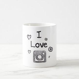 私はinstagramを愛します コーヒーマグカップ
