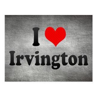 私はIrvington、米国を愛します ポストカード