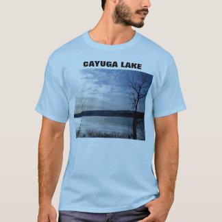 私はITHACAのCAYUGA湖のティー愛します Tシャツ