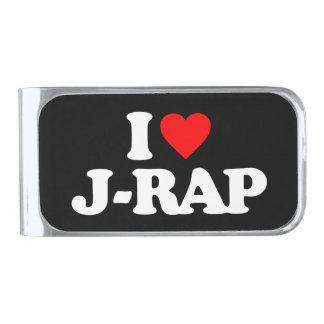 私はJ-RAPを愛します シルバー マネークリップ