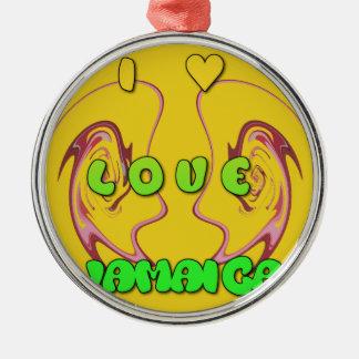 私はJamaica.pngを愛します メタルオーナメント