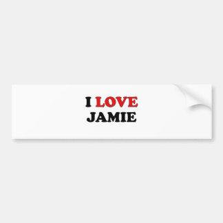 私はJamieを愛します バンパーステッカー