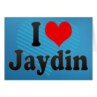 私はJaydinを愛します カード