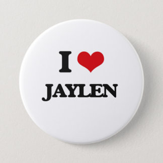 私はJaylenを愛します 7.6cm 丸型バッジ