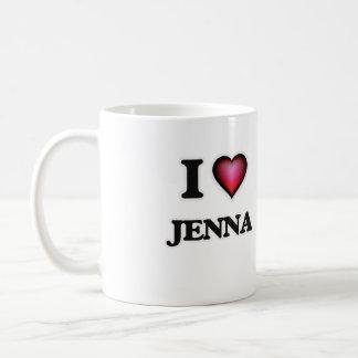 私はJennaを愛します コーヒーマグカップ
