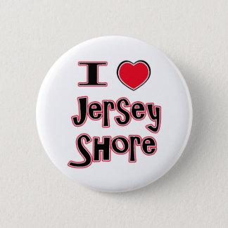 私はjerseyの海岸の赤を愛します 缶バッジ