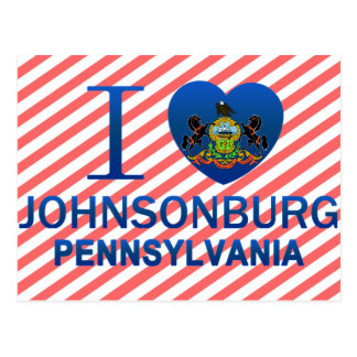 私はJohnsonburg、PAを愛します ポストカード