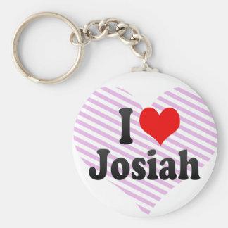 私はJosiahを愛します キーホルダー
